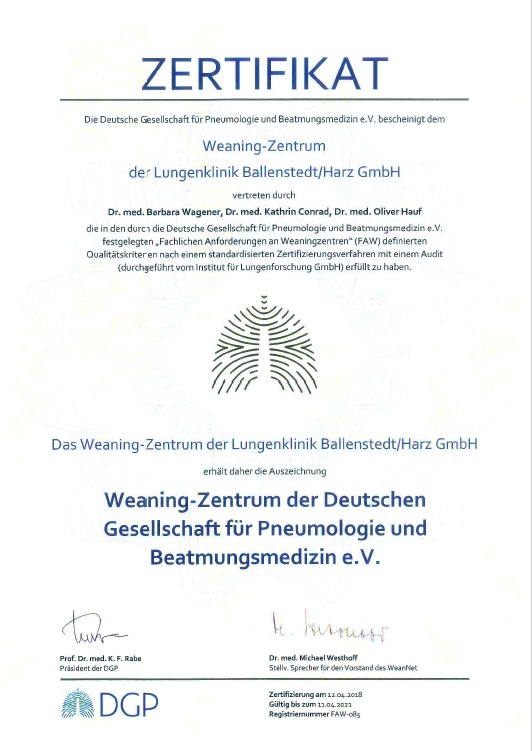 Zertifikation Lebenskrebszentrum